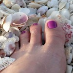Love to feel the earth (and shells) under my feet.