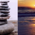 Cairn and Sunset