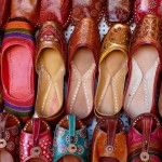 Colorful Shoes in Market
