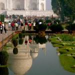Reflections of Taj Mahal